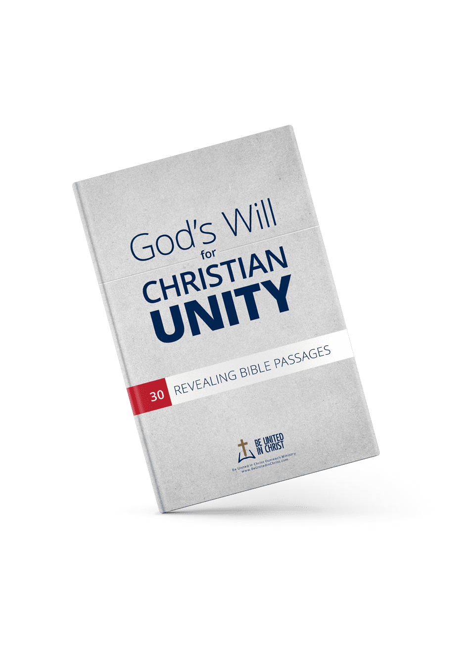 God's Will For Christian Unity Book Cover angle view
